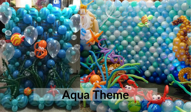 aqua theme for Birthday Party decorative images inDelhi