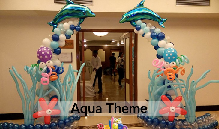 aqua theme for boys Birthday Party planners in Delhi
