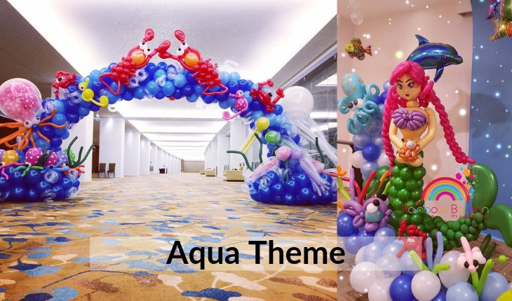 decorations of aqua theme for Birthday Party events in Delhi