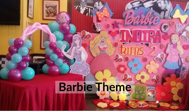 decorations themes for girls for Birthday Party places in Delhi