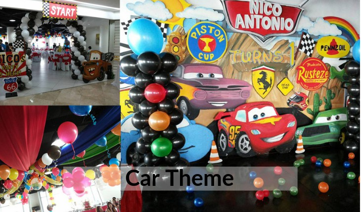 car themes for Birthday Party planners in Delhi