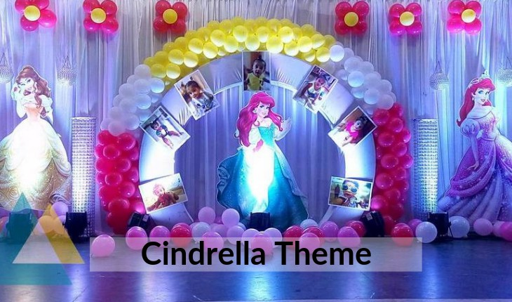 cindrella theme for girls Birthday Party places in Delhi