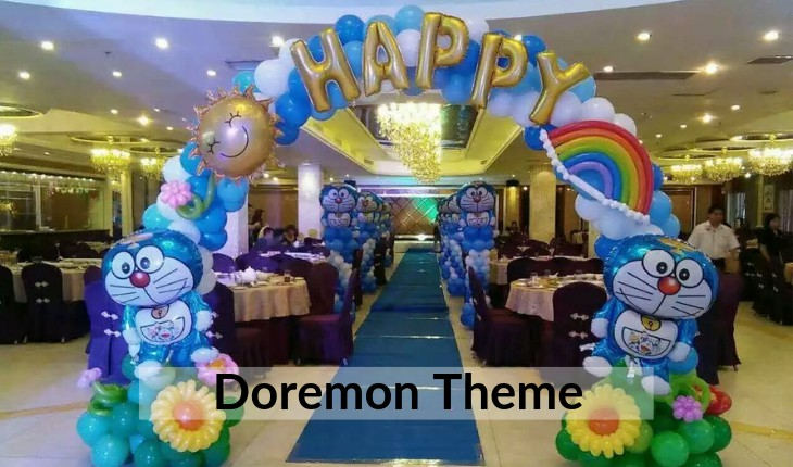 decorations of doremon theme Birthday Party planners in Delhi