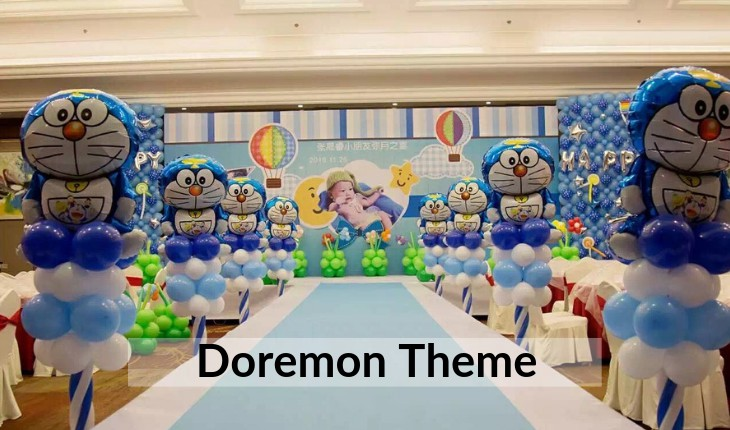 Birthday Party decorative theme of doremon images in Delhi
