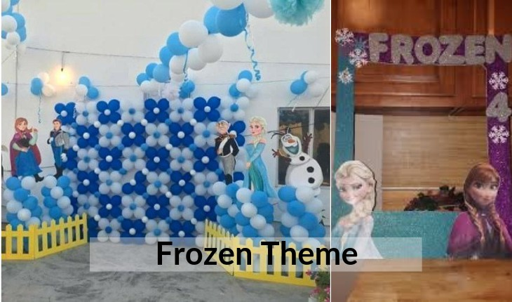 Birthday Party frozen decorative images in Delhi