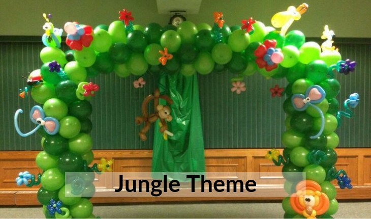 jungle themes for Birthday Party decorative images Delhi