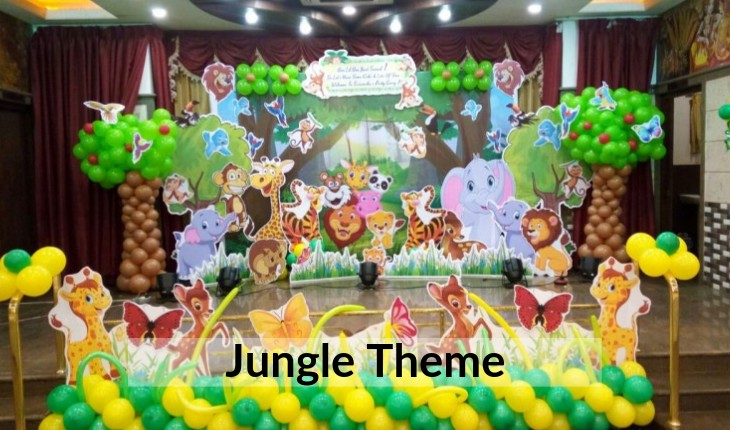 themes of jungle for Birthday Party in Delhi