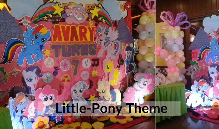Birthday Party decorations of little pony themes in Delhi