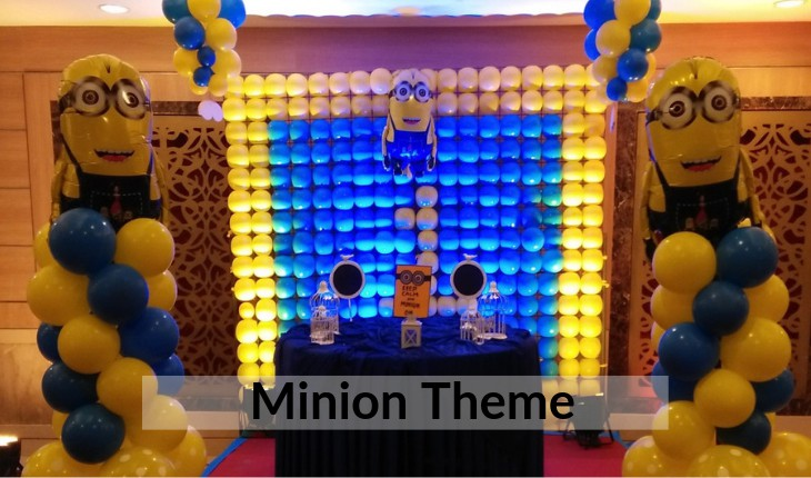 Birthday Party decorations of minion in Delhi