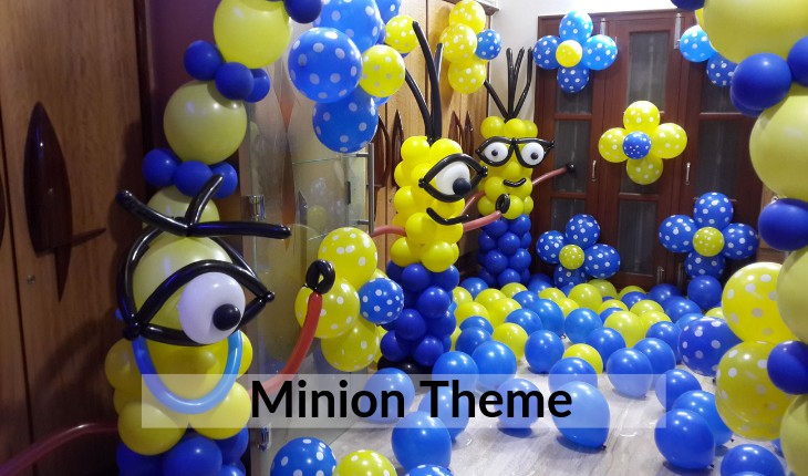 decorative minion theme for Birthday Party planners in Delhi