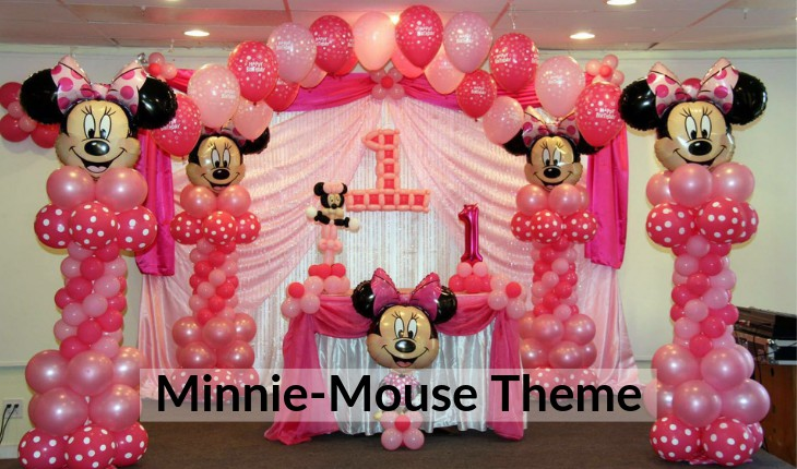 Birthday Party decorations themes of minni mouse in Delhi