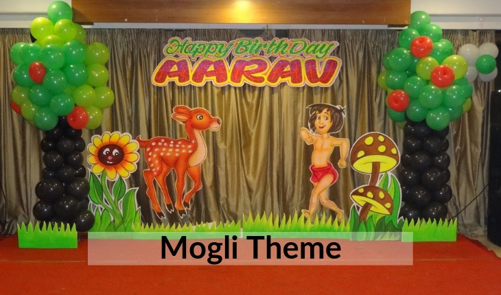 Birthday Party decoration theme of mogli in Delhi