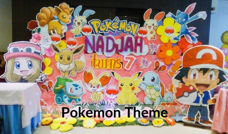 Birthday Party decorations of pokemon in Delhi