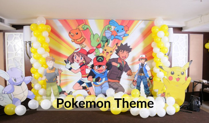 decorations of pokemon for Birthday Party planners in Delhi