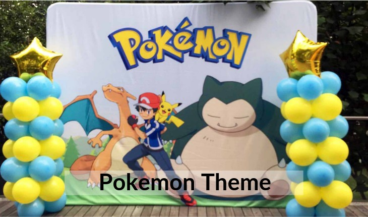 Birthday Party decorative images of pokemon in Delhi