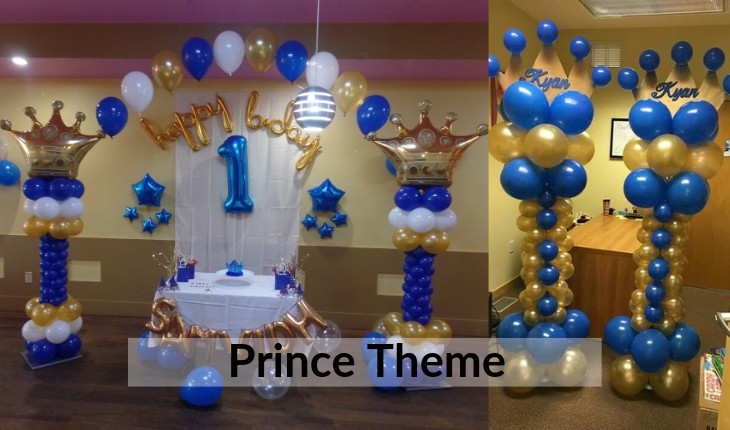 Birthday Party decorative prince theme images in Delhi