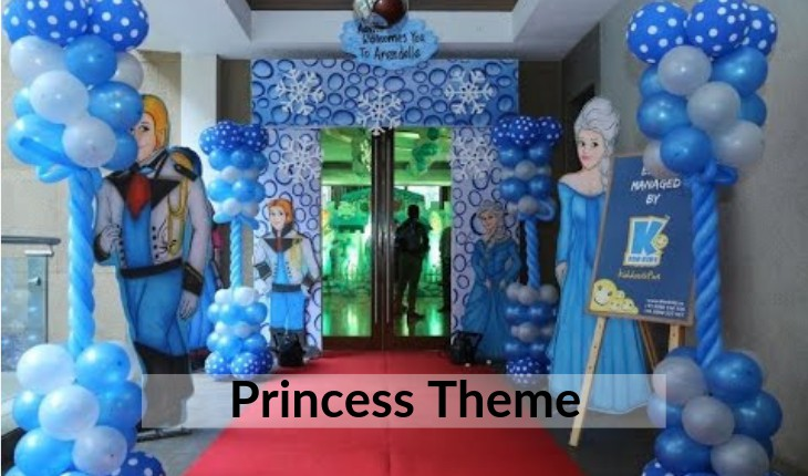 themes of princess for girls Birthday Party places in Delhi