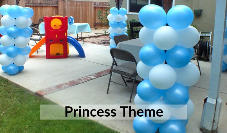 Birthday Party theme of princess decorations inDelhi