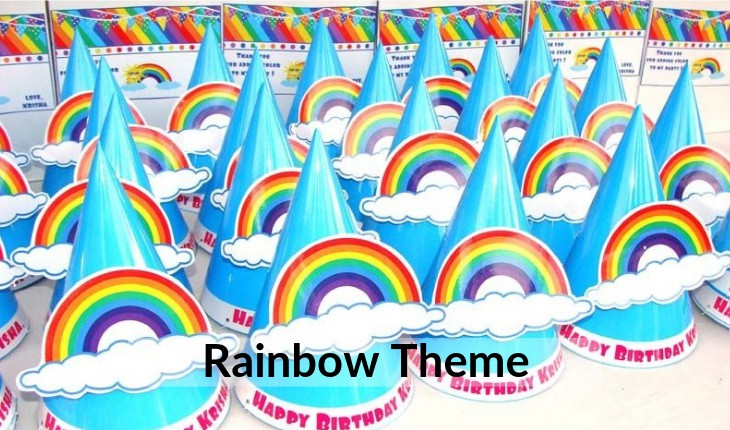 rainbow themes for Birthday Party decorative images Delhi