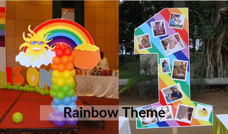 Birthday Party rainbow themes in Delhi