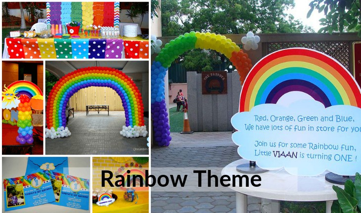 decoration of rainbow themes in Birthday Party events in Delhi