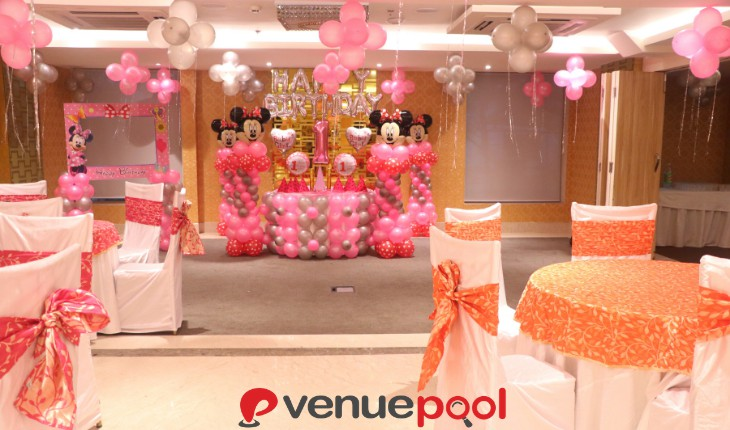 minnie theme Birthday Party in Delhi