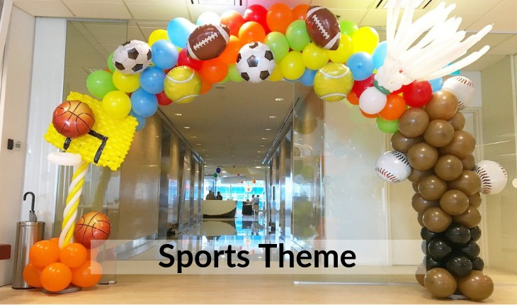 themes of sports for boys Birthday Party places in Delhi