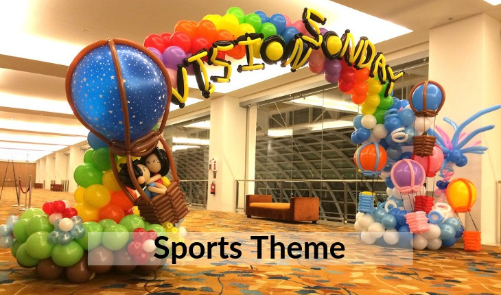 themes of sports for Birthday Party decorations Delhi