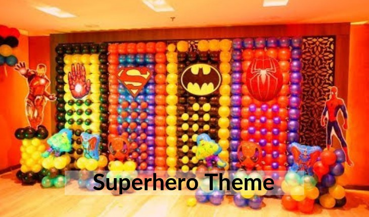 erhero themes for boys Birthday Party planners in Delhi