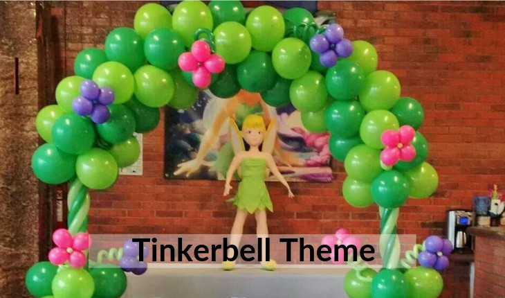 Birthday Party decorative images of tinkerbell themes in Delhi