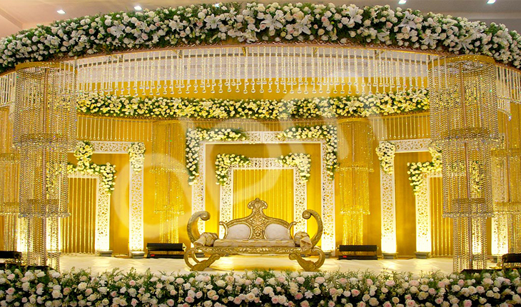Wedding stage decorations in Mayur Vihar